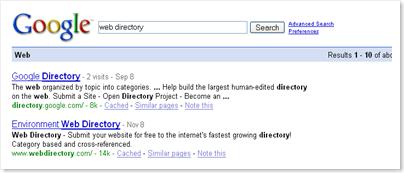 google-web-directory